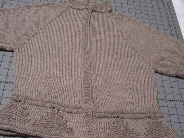 A blocked cardigan